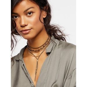 Free People Wanted and Wild Leather Bolo Necklace